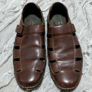 Rockport brown leather fisherman sandals 10M